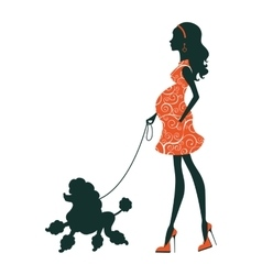 a Beautiful woman silhouette with vector image
