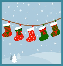 A bunch of stockings vector image