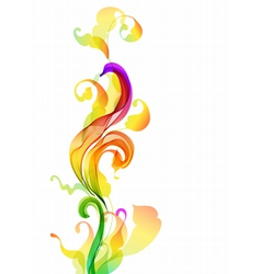 Abstratc floral wave vector image