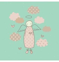 Angel on a cloud vector