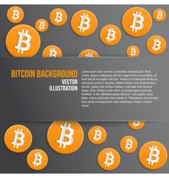 Background of financial currency Bitcoin vector image vector image