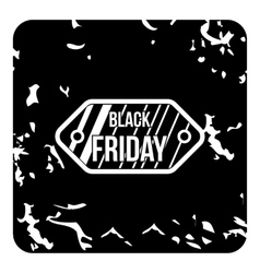 Black friday sale icon grunge style vector