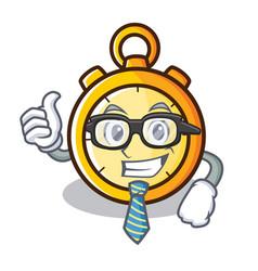 Businessman chronometer character cartoon style vector