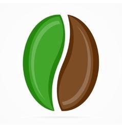 coffee bean logo or icon vector image