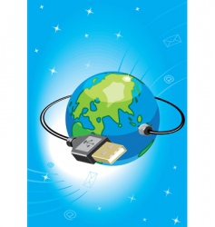 computer world vector image