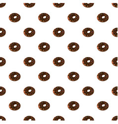 Donut with chocolate vector