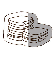 Figure white bread icon vector