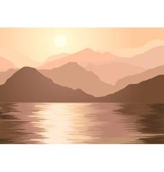 Foggy Brown Landscape vector image vector image