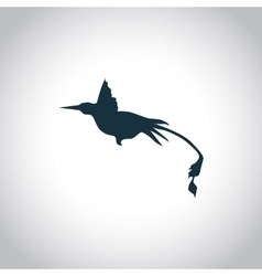 Hummingbird simple icon vector image