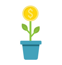 Investment growth flat icon business and finance vector