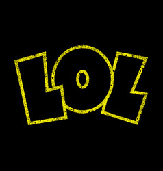 lol cartoon lettering vector image vector image