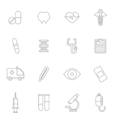Medical icons line vector