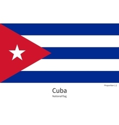 National flag of cuba with correct proportions vector