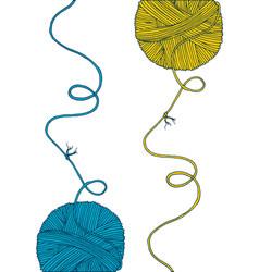 print yarn balls set vector image