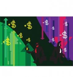 profit loss vector image vector image