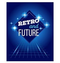 Retro disco 80s neon with text retro and vector