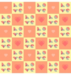 Romantic pattern for Valentines Day and wedding vector image vector image