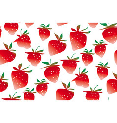 Strawberries seamless pattern vector