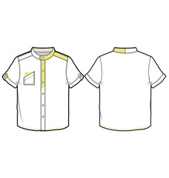 Summer shirt with short sleeves vector