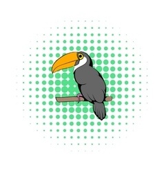 Toucan icon comics style vector image vector image