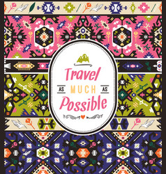 tribal chic seamless colorful patterns vector image vector image
