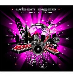 urban discotheque vector image