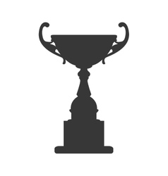 Trophy cup icon winner design graphic vector