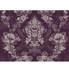 Victorian floral pattern abstract flower ros vector