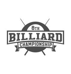billiards emblem label and designed elements vector image