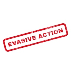 Evasive action text rubber stamp vector