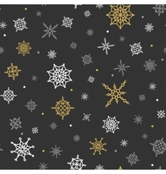 Christmas and winter background with snowflakes vector
