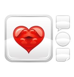 Happy valentines day romance love heart sexy kiss vector