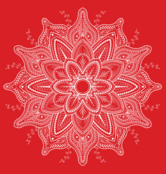 Flower mandala vintage decorative elements vector