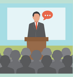 Conference concept business vector