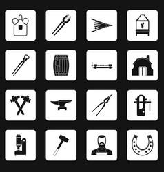 blacksmith icons set squares vector image
