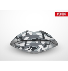 Beautiful luscious lips Camo texture vector image