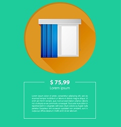 Ad layout for window louvers vector