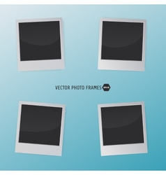 Retro photo frames on a blue background for your vector