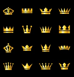 Set of icons crowns vector