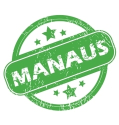 Manaus green stamp vector
