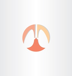 Lungs circle icon symbol vector