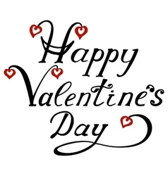Happy valentines day lettering vector