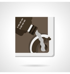 Automobile oil change flat color icon vector