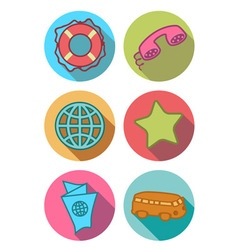Icons bright vector