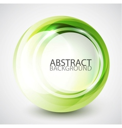 Abstract swirl sphere background vector