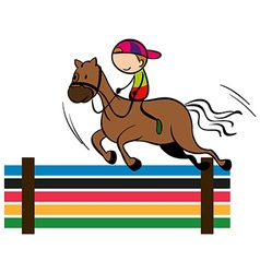 Olympics theme with equestrain vector