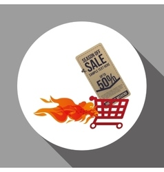 Sale design offer icon isolated vector