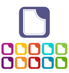 Abstract pocket icons set flat vector
