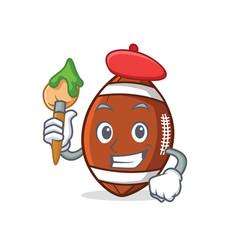 Artist american football character cartoon vector