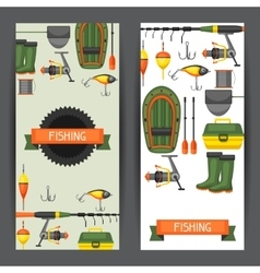 Background with fishing supplies design for vector